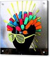 Industrial Head Acrylic Print by Cyryn Fyrcyd