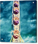 infrared Ferris wheel Acrylic Print by Stelios Kleanthous