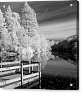 Infrared Glencoe Lochan Acrylic Print by Billy Currie Photography