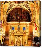 Inside St Louis Cathedral Jackson Square French Quarter New Orleans Ink Outlines Digital Art Acrylic Print by Shawn O'Brien