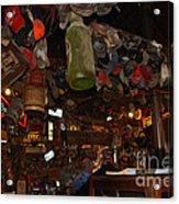 Inside The Bar In Luckenbach Tx Acrylic Print by Susanne Van Hulst