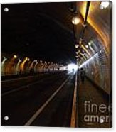 Inside The Stockton Street Tunnel In San Francisco . 7d7363.3 Acrylic Print by Wingsdomain Art and Photography