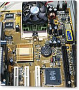 Internal Parts Of A Personal Computer Acrylic Print by Andrew Lambert Photography
