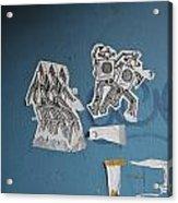International Robots Acrylic Print by Jen Bodendorfer