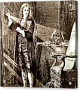 Isaac Newton Ray Of Light Acrylic Print by Science Source