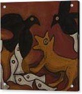 Jackal Dream Acrylic Print by Sophy White