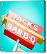Jack's Bar-b-q Acrylic Print by David Waldo