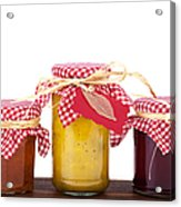 Jam Jelly And Pickle Acrylic Print by Jane Rix
