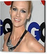 January Jones At Arrivals Acrylic Print by Everett