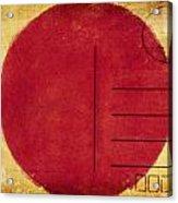 Japan Flag Postcard Acrylic Print by Setsiri Silapasuwanchai