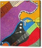 Jazz Trio Acrylic Print by Derril Foster