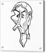 Jean Lamarck, Caricature Acrylic Print by Gary Brown