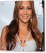 Jennifer Lopez Wearing An Emilio Pucci Acrylic Print by Everett