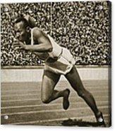 Jesse Owens Acrylic Print by American School