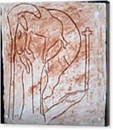 Jesus The Good Shepherd - Tile Acrylic Print by Gloria Ssali
