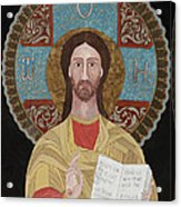 Jesus The Teacher Acrylic Print by Claudia French