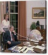 Jimmy Carter And Rosalynn Carter Acrylic Print by Everett