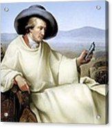 Johann Von Goethe, German Author Acrylic Print by Smetek