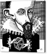 Johannes Kepler, Caricature Acrylic Print by Gary Brown