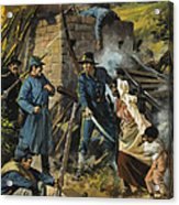 John Brown On 30 August 1856 Intercepting A Body Of Pro-slavery Men Acrylic Print by Andrew Howart
