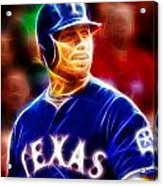 Josh Hamilton Magical Acrylic Print by Paul Van Scott