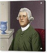 Josiah Wedgwood, British Industrialist Acrylic Print by Maria Platt-evans