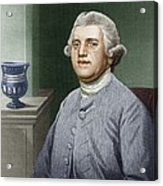 Josiah Wedgwood, British Industrialist Acrylic Print by Sheila Terry