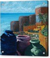 Juju Jars - Cancun Acrylic Print by Lorraine McFarland