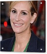 Julia Roberts At Arrivals For Larry Acrylic Print by Everett