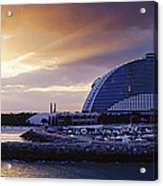 Jumeirah Beach Hotel At Sunrise Acrylic Print by Jeremy Woodhouse