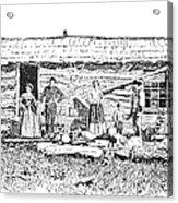 Kansas: Early House, 1854 Acrylic Print by Granger