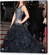 Kate Beckinsale Wearing A Marchesa Acrylic Print by Everett