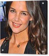 Katie Holmes Wearing A Jennifer Meyer Acrylic Print by Everett