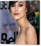 Keira Knightley At Arrivals For The Acrylic Print by Everett