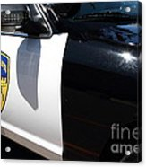 Kensington California Police Car . 7d15876 Acrylic Print by Wingsdomain Art and Photography