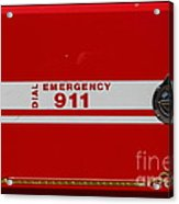 Kensington Fire District Fire Engine . 7d15866 Acrylic Print by Wingsdomain Art and Photography
