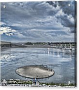 Kentucky Dam Dusk Acrylic Print by Jim Pearson