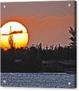 Key West Sunset Acrylic Print by T Guy Spencer