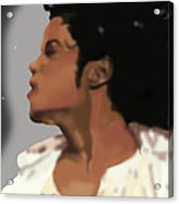King Of Pop King Of The Universe Acrylic Print by Diva Jackson