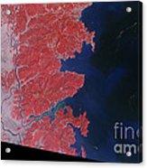 Kitakami River, Japan, After Tsunami Acrylic Print by National Aeronautics and Space Administration
