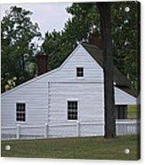 Kitchen And Slave Quarters Appomattox Virginia Acrylic Print by Teresa Mucha