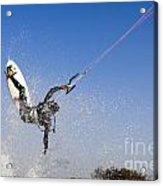Kitesurfing Acrylic Print by Hagai Nativ