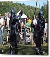 Knights Saber Fighting Acrylic Print by Eileen Szydlowski