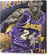 Kobe Bryant Acrylic Print by David Courson