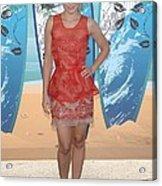 Kristen Bell Wearing A Stella Mccartney Acrylic Print by Everett