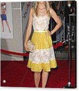 Kristen Bell Wearing A Valentino Dress Acrylic Print by Everett
