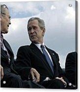 L To R Sec. Of Defense Donald Rumsfeld Acrylic Print by Everett