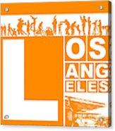 La Orange Poster Acrylic Print by Naxart Studio