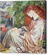 La Pia De Tolomei Acrylic Print by Dante Charles Gabriel Rossetti