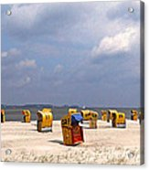 Laboe Beach ... Acrylic Print by Juergen Weiss